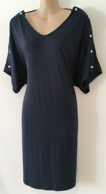 BLOOMING MARVELLOUS NAVY POPPER SLEEVE LONG TUNIC TOP BNWT SIZE 8-12
